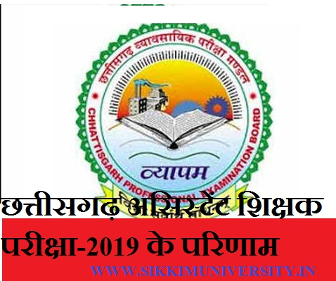 CG Vyapam 14580 Assistant Teacher Science Results 2019 - Chhattisgarh Lab. Science Teacher Results/Merit List/Cut Off 2019 1