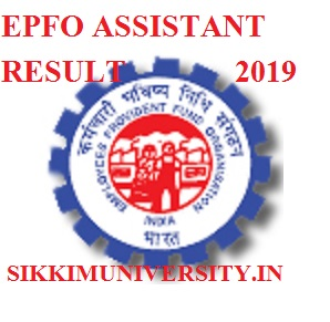 EPFO 280 Assistant Results 2019 - Asst Prelims Result/Cut Off Merit List Date epfindia.gov.in 1