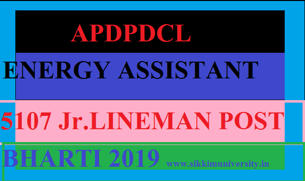 APSPDCL Recruitment 2019 for 5107 Energy Assistant JLM Gr II Online Apply 1