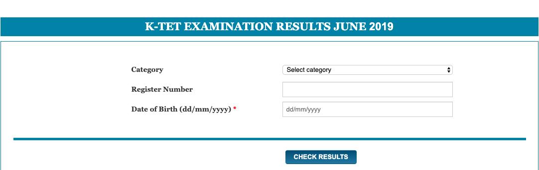 K-TET EXAMINATION RESULTS JUNE 2019