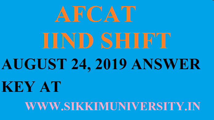 AFCAT-2 Exam Analysis August 24/25, 2019 Question Paper Answer Key with Solution PDF afcat.cdac.in 1