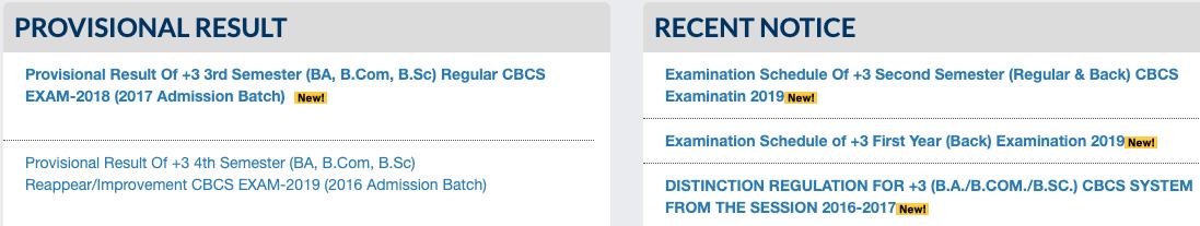 UUEMS Result 2019, Utkal University +3 1st: 2 :3 Year Exam Result 201