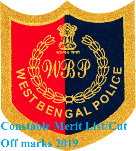 West Benga Police 8419 Constable Prelims Results 2019 - Policewb.gov.in Constable Merit List/Cut Off marks 2019 1