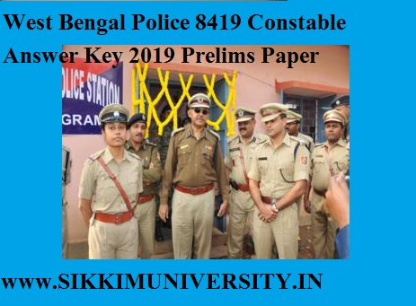 West Bengal Police 8419 Constable Answer Key 2019 Prelims Paper Solutions PDF 1