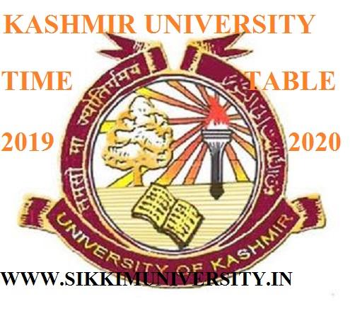 Kashmir University UG/PG Date Sheet 2019-20 Exam Date Released 1