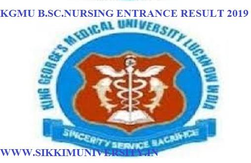 KGMU B Sc Nursing Result/Merit List 2019 - Check BSC Nursing