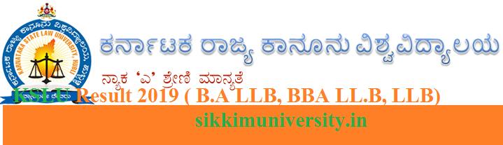 KSLU Results 2019 (Released) - Check Karntaka State Law University BA LLB, LLB, BBA Provisonal Result June 1