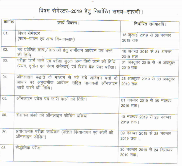 BTEUP Polytech  Odd Sem. Date Sheet 2020 - BTEUP Diploma  1/3/5 Sem Time Table Nov/Dec 2020 2
