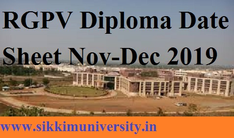 RGPV Diploma Date Sheet Nov-Dec 2019 - MP Polytechnic Engineering Pharmacy Exam Time Table Ist, 3rd, 5th, 7th Sem at rgpvdiploma.in 1