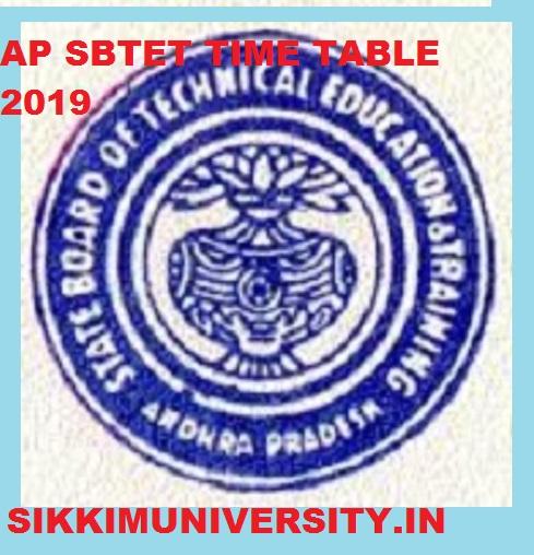 AP SBTET Diploma Exam Time Table Oct/Nov 2019 - Manabadi AP SBTET C09, C16, C14 Exam Schedule Backlog Regular Supply 1