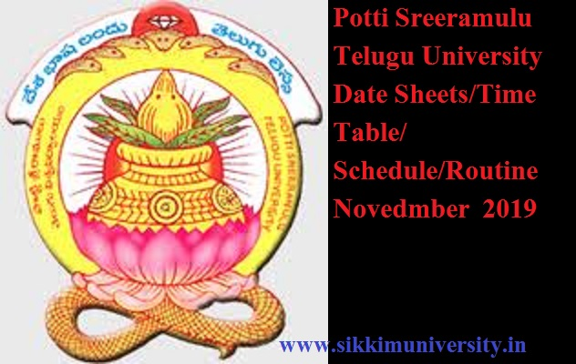 Potti Sreeramulu  Telugu University Date Sheets 2020 Check PSTU CDE Exam timetable/Schedule Pdf www.teluguuniversity.ac.in 1