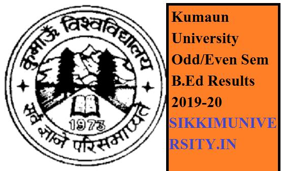 Kumaun University Odd/Even Sem B.Ed Results 2020  of All Semester - Get here 1