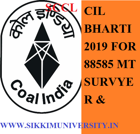 SCCL CIL 88585 Draughtsman Plumber MTS Surveyor JE Clerk & Various Other Recruitment 2019 Online Form and Exam Date 1