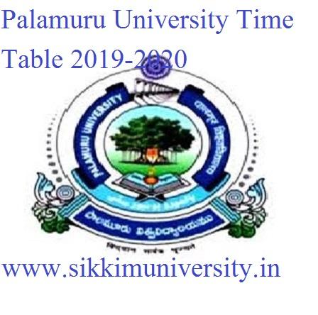 Palamuru University Ist, 3rd, 5th Sem Nov. Exam Time Table 2019-20- PU UG/PG Degree Exam Schedule Download 1