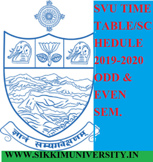 SVU BA BCOM BSC PART I, II, III Time Table 2019-20 - SV University 1, 2, 3, 4, 5, 6 Sem. Date Sheet 2020 1