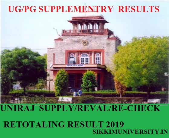UNIRAJ Revaluation Result 2020 MA BA B.Sc B.Com Rechecking Results 1