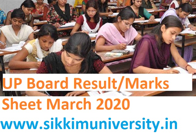 UP Board Result/Marks Sheet March 2020 - UP 12th  Merit list/ Result On 20 April Expected 3