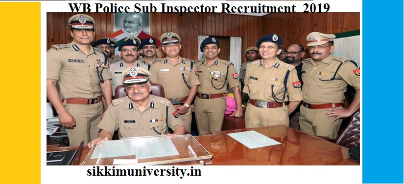 WB Police 668 Sub Inspector Recruitment 2019 - WBPRB Sub Inspector Vacancies Online Apply at wbpolice.gov.in 1