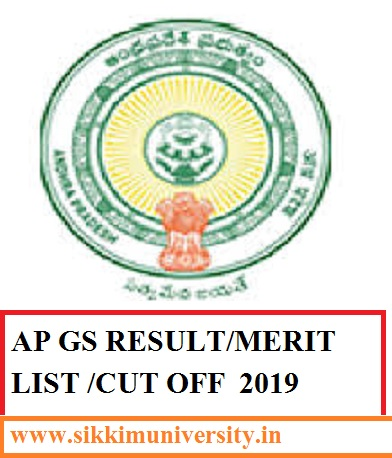 AP Grama Sachivalayam Results/Merit List/Cut Off Marks 2019 {OUT} Category Wise 1