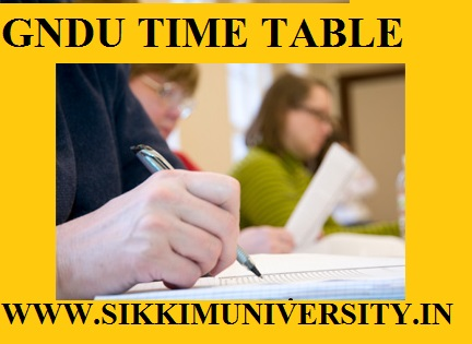 GNDU Date Sheet Oct/Nov 2020-21 GNDU Odd Sem ( 1st, 3rd, 5th Sem) Time Table 2021 1