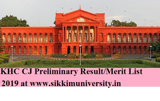 Karnataka High Court Civil Judge Result Sept. 21, 2019 - Karnataka Civil Judge (CJ) Prelims Merit List/Cut Off 2019 1