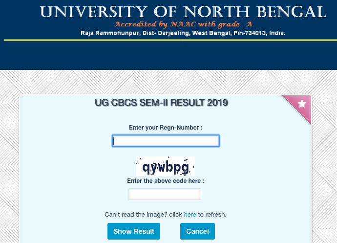 NBU 1st, 2nd, 3rd Year Result 2020, North Bengal University BA/BSC/BCOM Result 2020 2