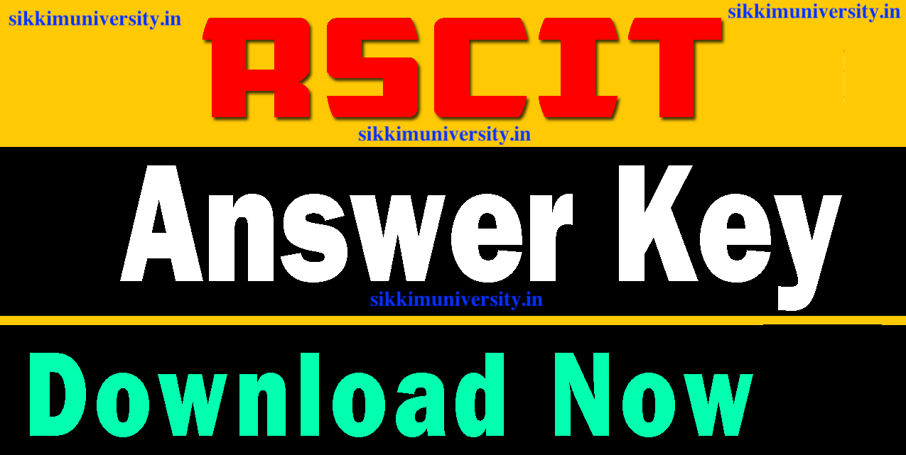 RSCIT Exam 8th sep 2018 answer key