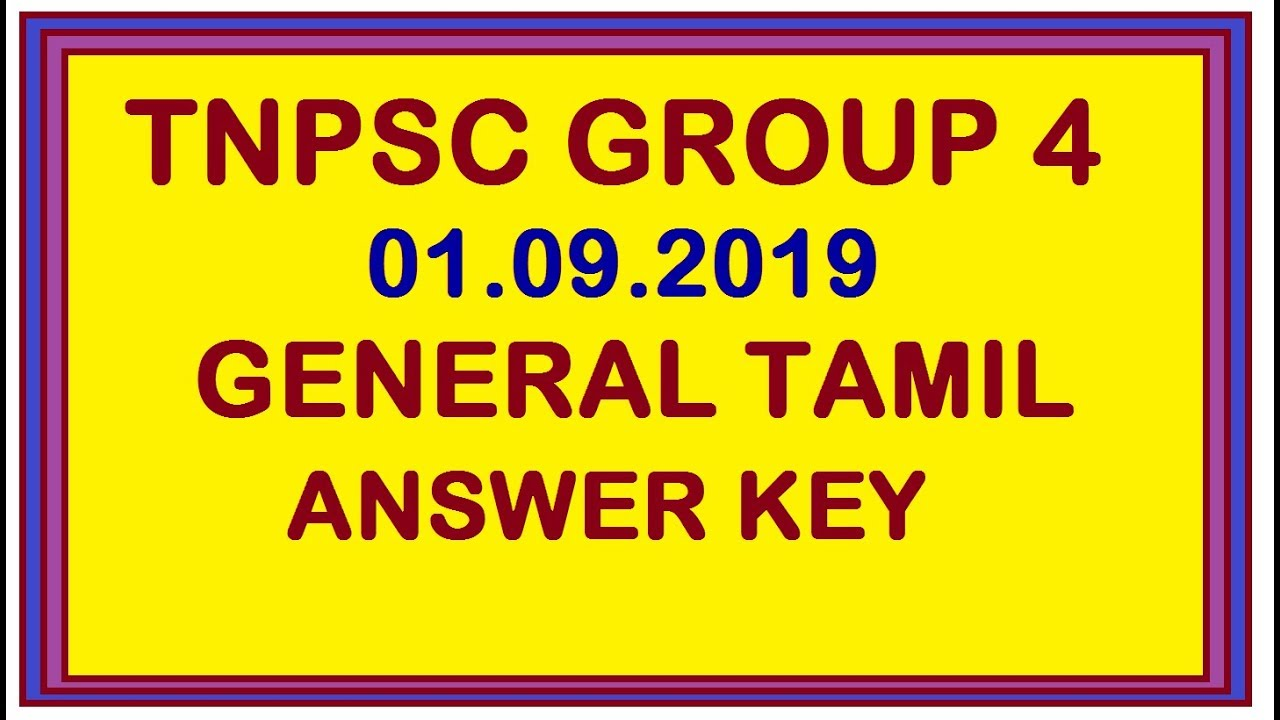 TNPSC Group 4 Answer Key 2019 Tamil:English:Maths:GK Cutoff Marks