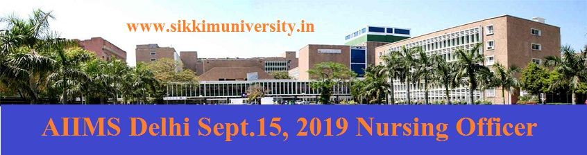AIIMS Delhi Sept.15, 2019 Nursing Officer Answer Key - AIIMS Delhi 582 Staff Nurse Answer Sheet Paper Solution at Aiims.edu 1