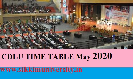 CDLU TIME TABLE May 2020- Chaudhary Devi Lal University, Sirsa B.Tech, BA, BSc, B.Com Even Sem Date Sheet 2020 1