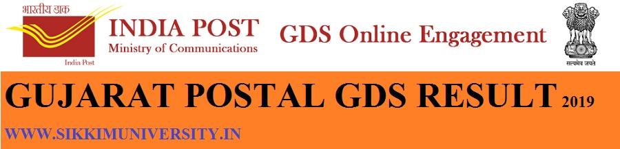 Gujarat Postal Circle 2510 Dak Sevak/ Result/Merit List 2019 - Gujarat Postal BPM, ABPM, GDS Cut Off Marks 2019 1