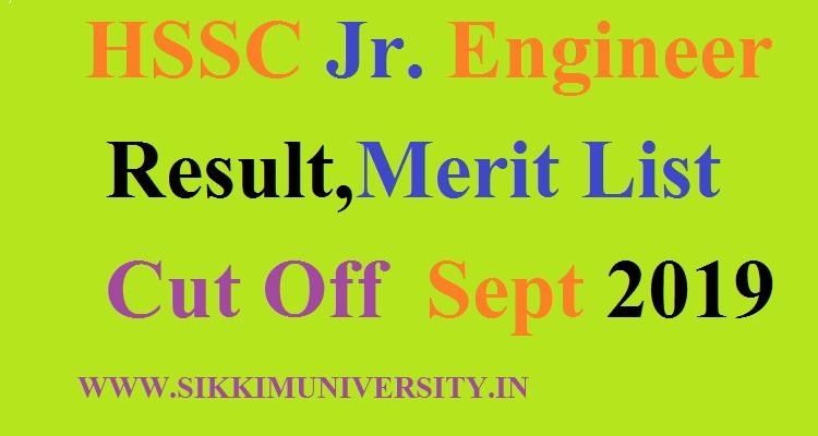 HSSC Jr. Engineer Result Sept 2019- HSSC Results 2019 for 1624 JE Posts Exam at hssc.gov.in 1