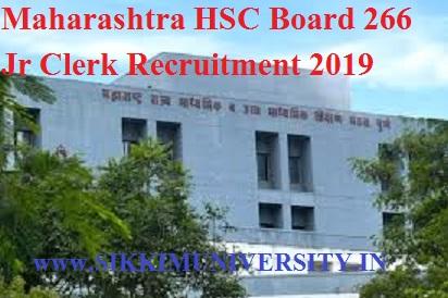 Maharashtra HSC Board 266 Jr Clerk Recruitment 2019 Apply Online @mahahsscboard.in 1