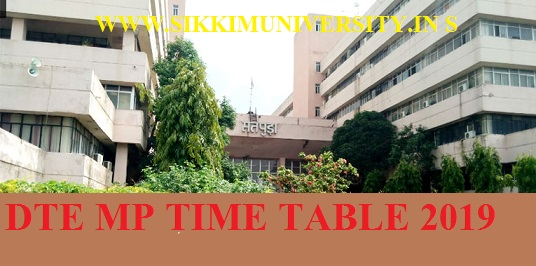 DTE MP Ist, 3rd, 5th Sem Time Table Nov/Dec 2019- Diploma Exam Date Sheet Download 1