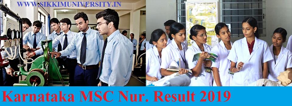 Karnataka MSC Nur. Result 2019 - KEA M.Sc Nursing MPT Entrance Result, Cut Off Counseling Allotment Date 1