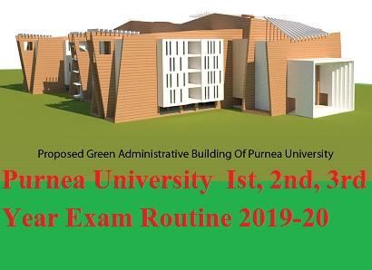 Purnea University  Ist, 2nd, 3rd Year Exam Routine 2020 BA BCOM BSC 1