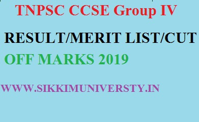 TNPSC Group IV Merit List 2019- TNPSC CCSE Group-4 Result/Cut Off Marks list Sept. 2019 1