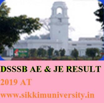 DSSSB 264 Assistant Engineer Result 2019 - DSSSB AE JE Merit List & Cut Off List 2019 1