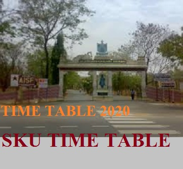 SKU Degree  IInd, IVth, VIth Sem Time Table 2020 BSC BA BCOM Exam Schedule /Routine 1