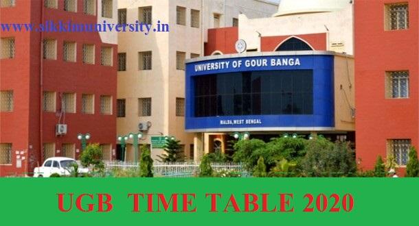 Gour Banga University Nov/Dec Exam Schedule 2020-21 - UGB Part I, II, III BA BCOM BSC Semester Exam Routine 2021 1