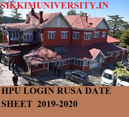 HPU Login RUSA Time Table 2021 - HPU BA BCOM BSc Sem Exam Schedule/Date Sheet 2021 Download 1