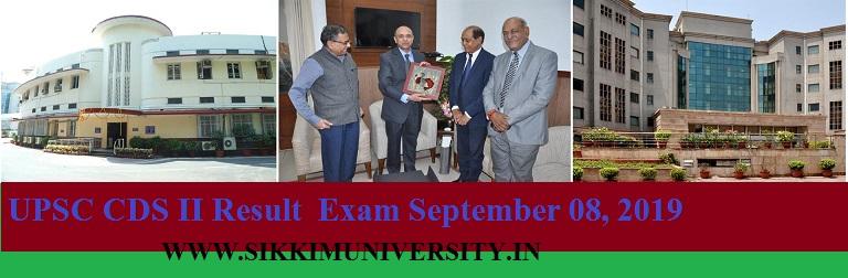 UPSC CDS II Result Exam September 08, 2019 - CDS -2 Exam Final Result Date Tentative cut off marks/merit list 2019 1