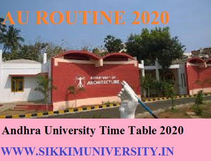 Andhra University Ist, 2nd, 3rd year Date Sheet 2020 - AU BA BCOM BSC Exam Schedule/Time Table 2019-20 Download 1