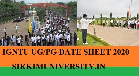 IGNTU Date Sheet May 2021 - IGNTU 2nd, 4th, 6th Sem BCOM BA BSC MA MCOM MSC Exam 2021 1