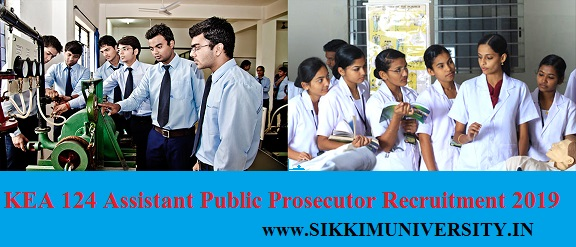 KEA 124 Assistant Public Prosecutor Recruitment 2019 Online Apply Karnataka Jobs 1