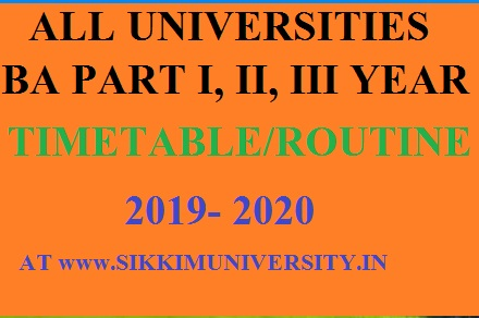 BA Time Table/Date Sheet 1st/ 2nd/ 3rd Year 2020 All Universities Schedule Download 1