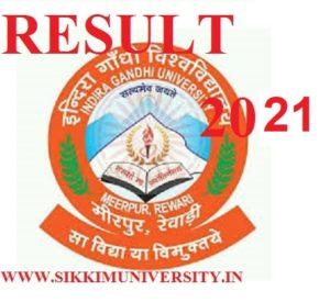 IGU Meerpur Result 2021 Ist, 2nd, 3rd Year BSC, BCOM, BA Exam @igu.ac.in 1