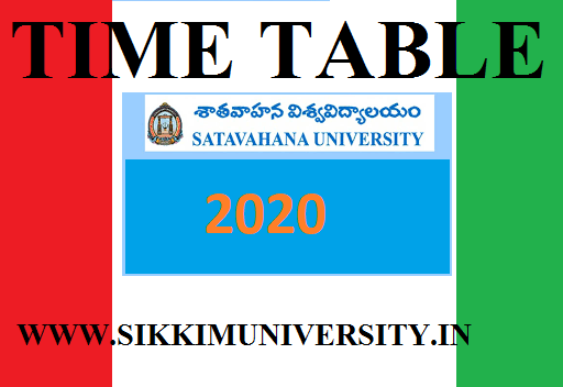 Satavahana University Ist, 2nd, 3rd Year Time Table 2020 BA BCOM BSC MA MCOM Exam 1