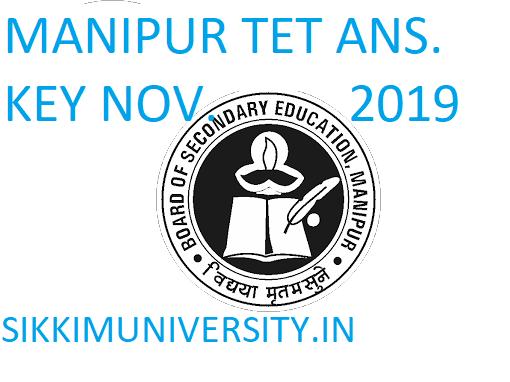 Manipur TET Answer Key Exam November 24, 2019 - BSEM TET Answer Sheet 2019 Question Paper I & II Response 1