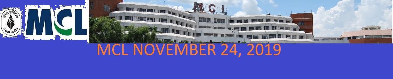 MCL Mining Sirdar Ans. Key Exam November 24, 2019 - MCL Jr Overman Dy Surveyor Prelims Exam 2019 Analysis at Mahanadicoal.in 1